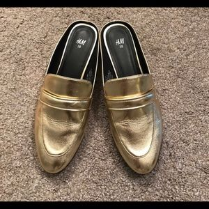 H&M 🌟GOLD🌟 Mules size 8/38